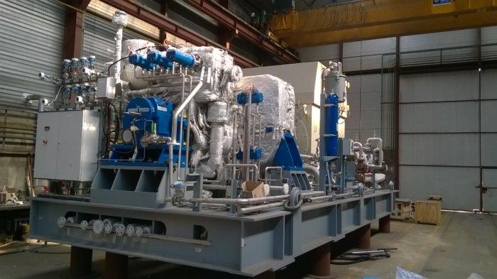Un Groupe Turbo-Alternateur de 7 MW - Photographie publiée sur autorisation de la société INTERPEC