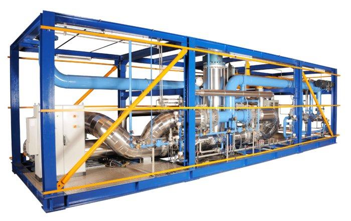 Skid de purification fabriqué pour Air Liquide