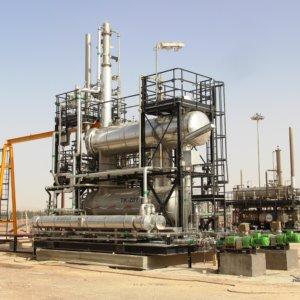 Skid de régénération de TeG pour PROSERNAT Projet SBAA (SONATRACH - Algérie) - Photo publiée avec l'autorisation de PROSERNAT
